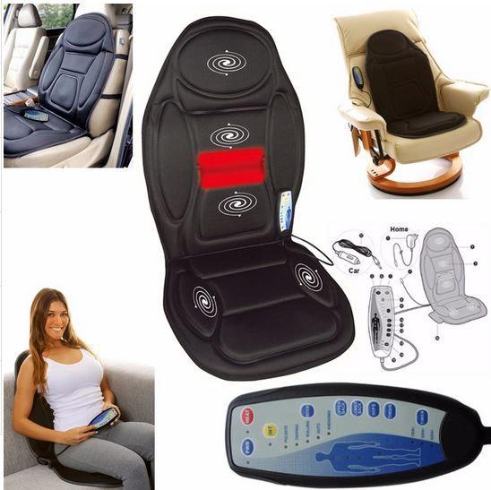 Assento massageador shiatsu com aquecimento e controle remoto