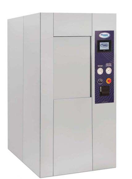 Autoclave hospitalar uma porta com fechamento vertical e impressora