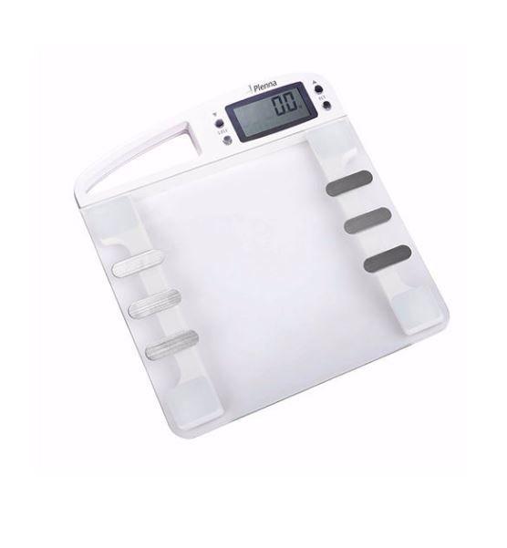 Balança digital com taxas de gordura, água corporal, muscular, massa Óssea e massa corporal