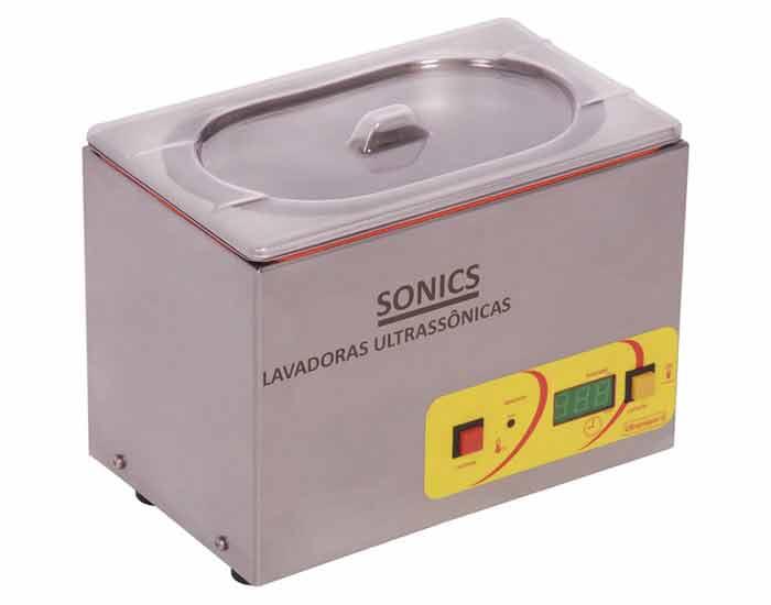 Banho de ultrassom 1,8 litros com ou sem aquecimento