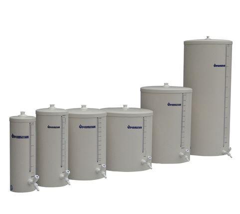 Barrilete em PVC para armazanar água em laboratórios