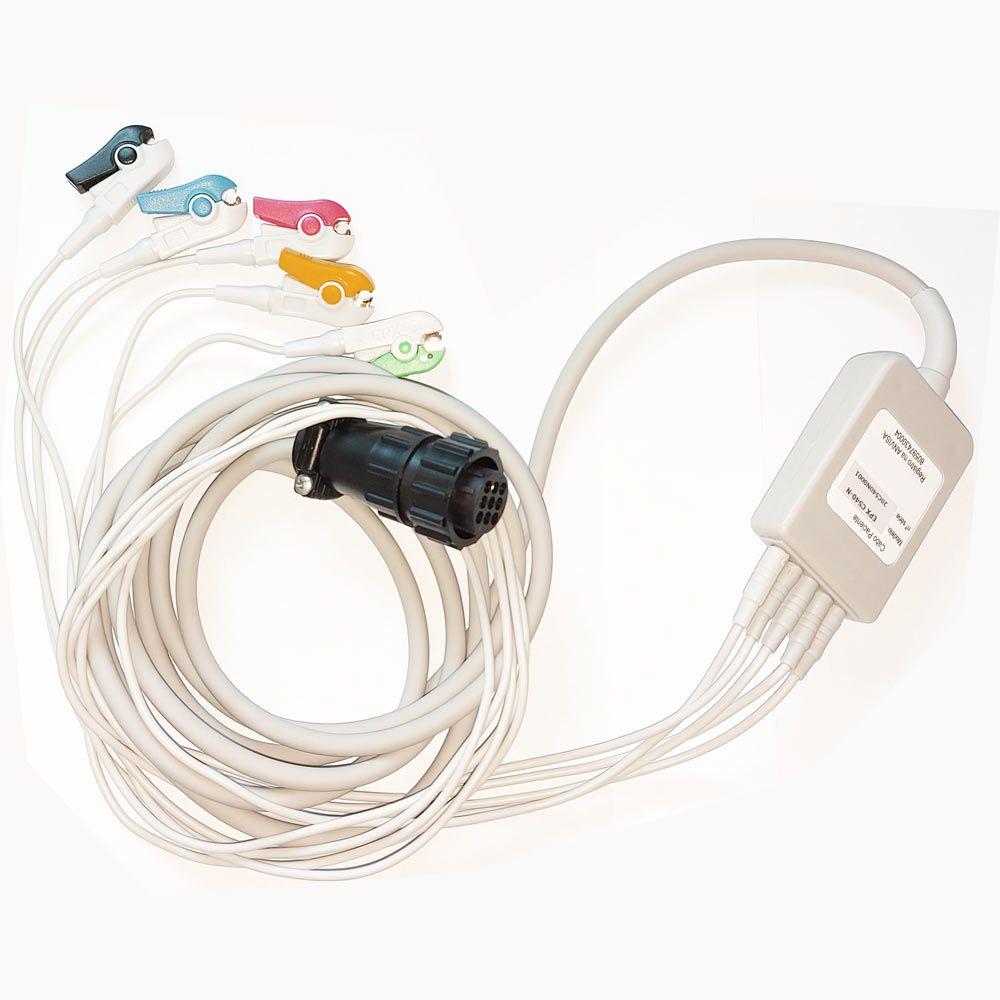 Cabo de ECG paciente 5 vias para cardioversor Instramed