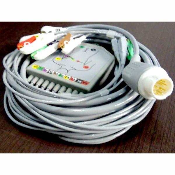 Cabo ECG para monitor e desfibrilador Philips 10 vias