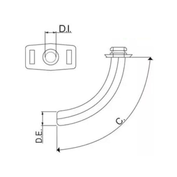 Cânula para Traqueostomia metálica modelo standard