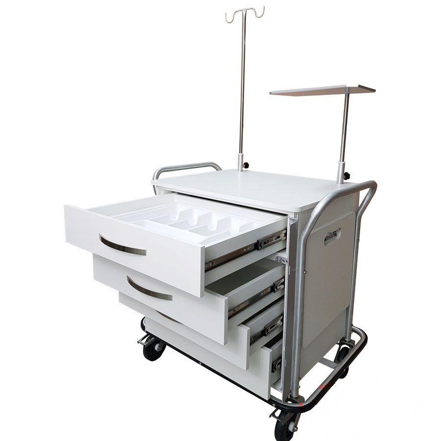 Carro de emergência para ressonância magnética