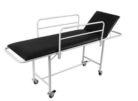 Carro maca padiola esmaltado para ambulatório com grades