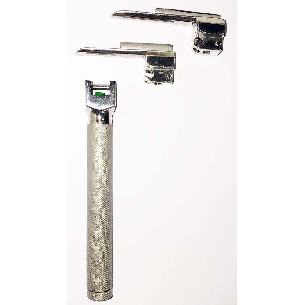 Conjunto de laringoscopio fibra ótica