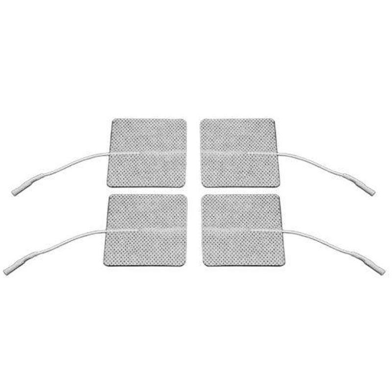 Eletrodo auto adesivo 5x5 cm para tens fisioterapia com 4 unidades