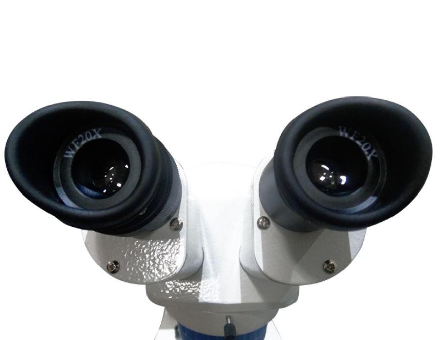 Estereomicroscópio binocular profissional até 80x LED