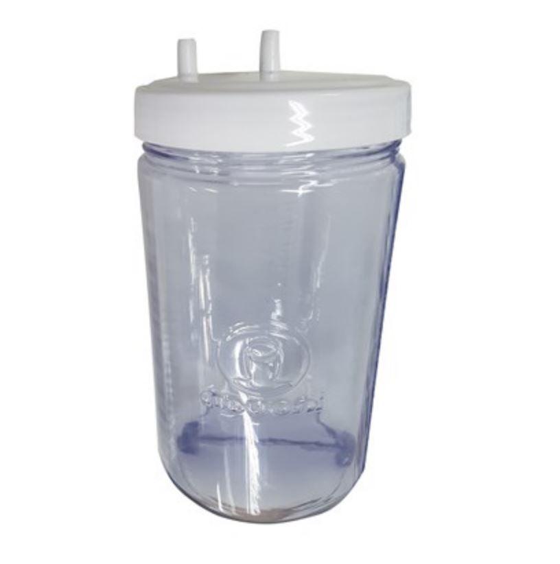 Frasco p/ aspirador de secreções nevoni 1,3 litros com tampa