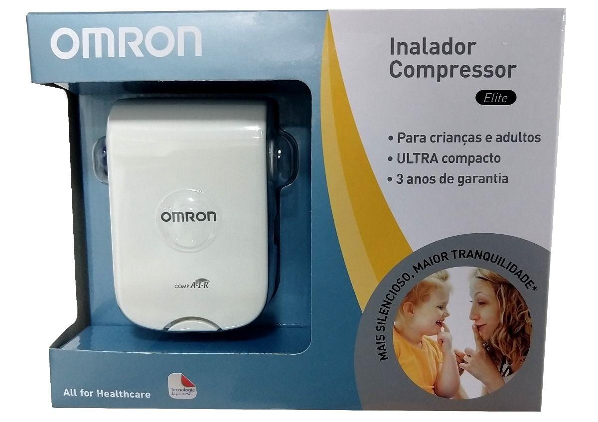 Inalador/Nebulizador Compressor Elite marca OMRON FRETE GRATIS
