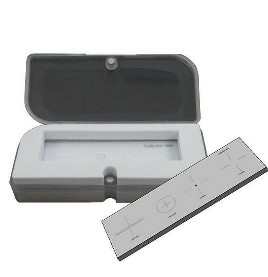 Lâmina para calibração de microscópio