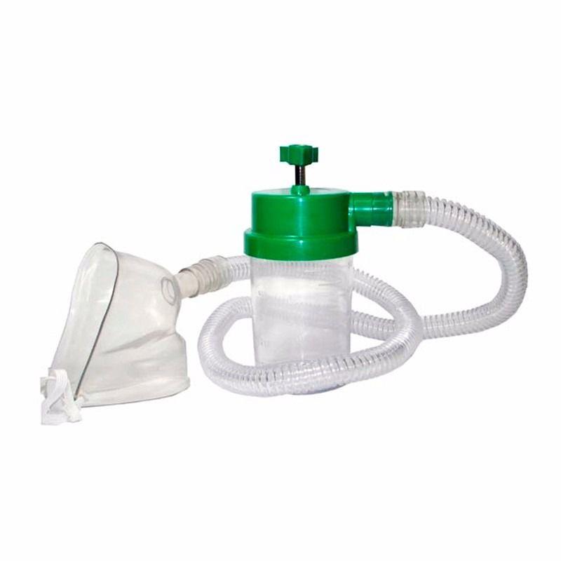 Macronebulizador com traqueia e mascara para oxigênio