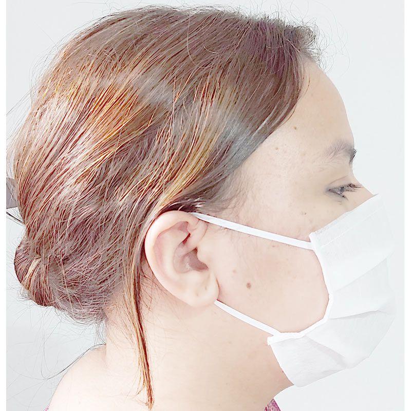 Máscara tripla com elástico e clip nasal 50 unidades