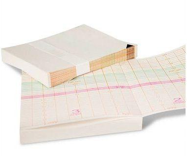 Papel para cardiotocógrafo Kolplast gold bloco 150 folhas
