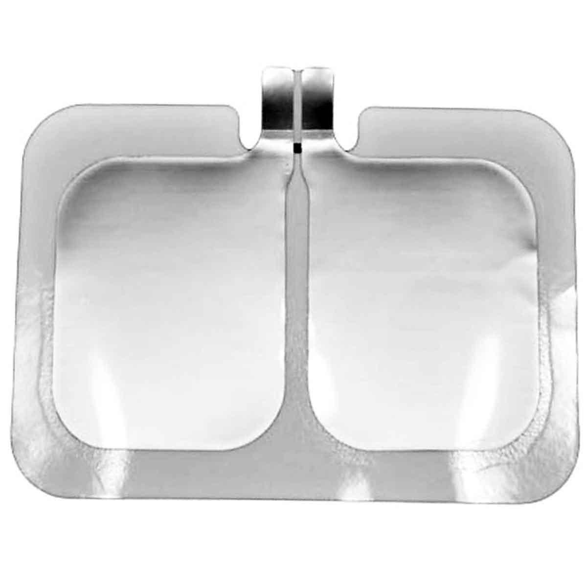 Placa neutra eletrocirurgica bipartida descartável  para bisturi elétrico com 5 unidades