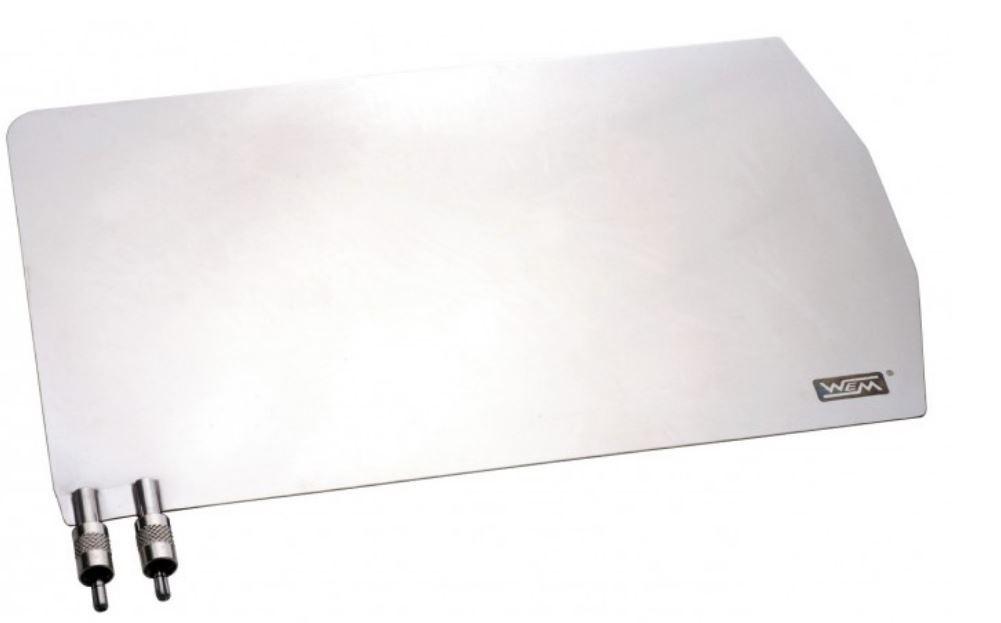 Placa neutra inox  para bisturi eletrico WEM PP-04