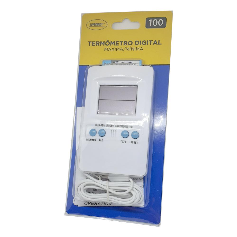 Termômetro de máxima e minima para geladeira e ambiente