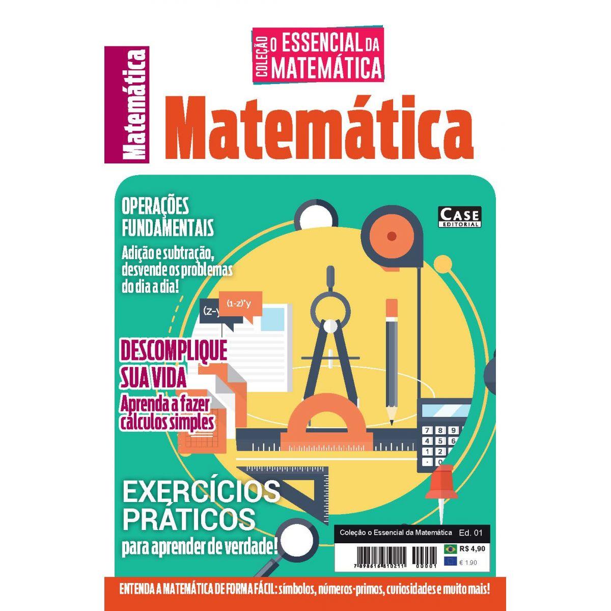 Coleção O Essencial da Matemática Ed. 01 - Exercícios Práticos - VERSÃO PARA DOWNLOAD (PDF)  - EdiCase Publicações