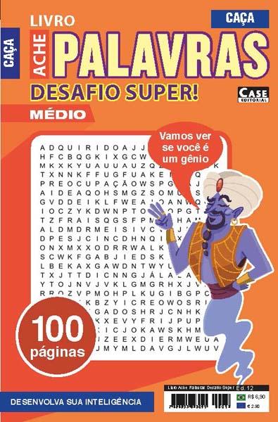 Livro Ache Palavras Desafio Super - Edição 12  - EdiCase Publicações