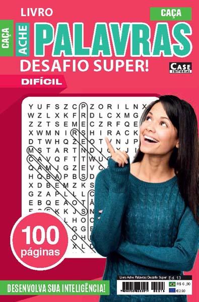 Livro Ache Palavras Desafio Super - Edição 13  - EdiCase Publicações