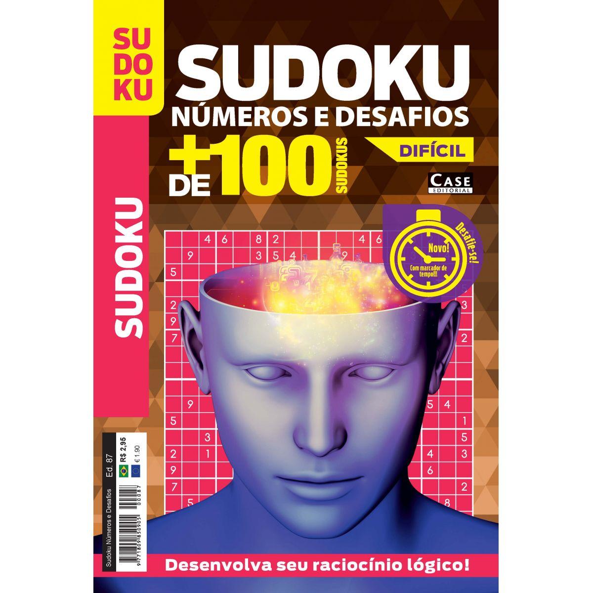 Sudoku Números e Desafios - Edição 87  - EdiCase Publicações