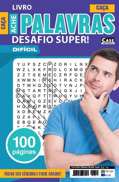 Livro Ache Palavras Desafio Super - Edição 14  - EdiCase Publicações