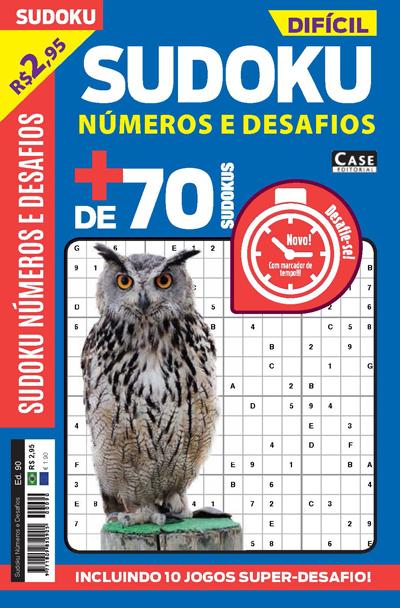 Sudoku Números e Desafios - Edição 90  - EdiCase Publicações