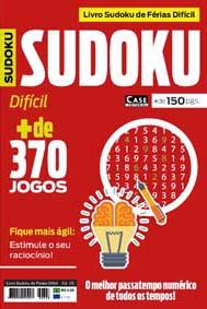 Livro Sudoku de Férias Difícil - Edição 03  - Case Editorial