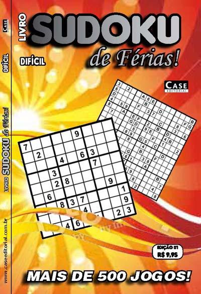 Livro Sudoku de Férias Difícil - Edição 01  - Case Editorial