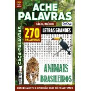 Ache Palavras Ed. 69 - Fácil/Médio - Letras Grandes - Tema: Animais Brasileiros