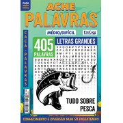 Ache Palavras Ed. 72 - Médio/Difícil - Letras Grandes - Tudo Sobre Pesca