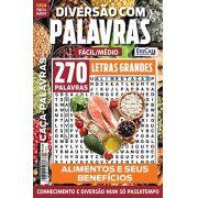 Diversão Com Palavras Ed. 26 - Fácil/Médio - Letras Grandes - Tema: Alimentos e Seus Benefícios