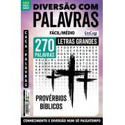 Diversão Com Palavras Ed. 30 - Fácil/Médio - Letras Grandes - Tema: Provérbios Bíblicos