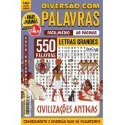 Diversão Com Palavras Ed. 34 - Fácil/Médio - Letras Grandes - Civilizações Antigas