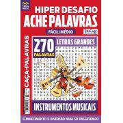 Hiper Desafios Ache Palavras Ed. 61 - Fácil/Médio - Letras Grandes - Tema: Instrumentos Musicais