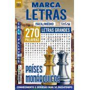 Marca Letras Ed. 57 - Fácil/Médio - Letras Grandes - Países Monárquicos