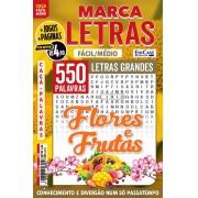 Marca Letras Ed. 60 - Fácil/Médio - Letras Grandes - Flores e Frutas