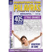 Passatempos Com Palavras Ed. 79 - Médio/Difícil - Letras Grandes - Benefícios do Sono