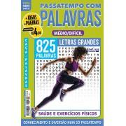 Passatempos com Palavras Ed. 84 - Médio/Difícil - Letras Grandes - Saúde e Exercícios Físicos