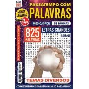 Passatempos com Palavras Ed. 88 - Médio/Difícil - Letras Grandes - Temas Diversos
