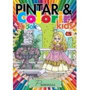 Pintar e Colorir Kids Ed. 14 - Princesas - PRODUTO DIGITAL (PDF)
