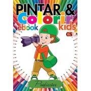 Pintar e Colorir Kids Ed. 18 - Profissões - PRODUTO DIGITAL (PDF)