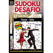 Sudoku Desafio Ed. 74 - Muito Difícil - Só Super Desafio - Com Letras e Números - Danças (Salsa)