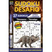 Sudoku Desafio Ed. 76 - Muito Difícil - Só Super Desafio - Com Letras e Números - Dinossauros - Triceratops
