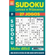 Sudoku Letras e Números Ed.01 - MUITO DIFÍCIL - SÓ SUPER DESAFIO - 27 jogos