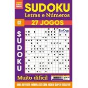 Sudoku Letras e Números Ed.02 - MUITO DIFÍCIL - SÓ SUPER DESAFIO - 27 jogos