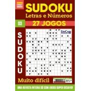 Sudoku Letras e Números Ed.03 - MUITO DIFÍCIL - SÓ SUPER DESAFIO - 27 jogos