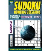 Sudoku Números e Desafios Ed. 121 - Médio/Difícil - Só Jogos 9x9 - Números Grandes - Planeta Urano