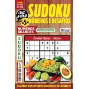 Sudoku Números e Desafios Ed. 126 - Médio/Difícil - Só Jogos 9x9 - Números Grandes - Comidas típicas - México